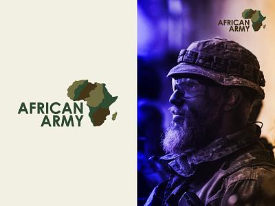 African Army vector icon identity flat design creative  design minimal logo graphic design branding