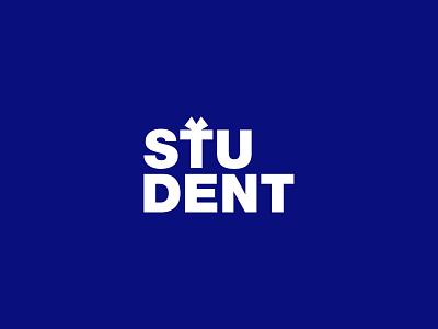 STUDENT logo concept identity design creative  design minimal logo graphic design branding