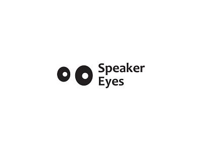 Speaker Eyes flat logo concept icon identity creative  design minimal logo graphic design branding