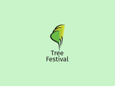 Tree Festival logo concept icon identity creative  design minimal logo graphic design branding