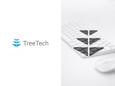 TreeTech design logo concept icon identity flat creative  design minimal logo graphic design branding
