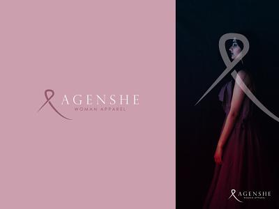 AGENSHE modern logo fashion brand woman apparel apparel logo logo concept icon identity creative  design minimal logo branding