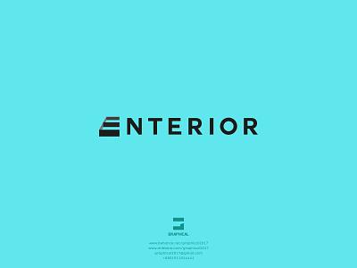ENTERIOR minimalist wordmark logo building logo construction logo interior logo icon identity graphic design creative  design minimal logo branding