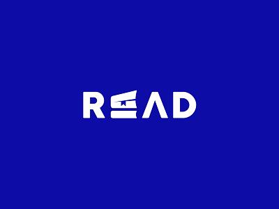 READ publication logo.read library logo design icon identity graphic design creative  design minimal logo branding