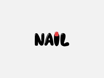 NAIL minimal logo healthcare beauty logo nail icon identity graphic design creative  design minimal logo branding