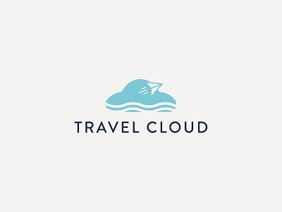 TRAVEL CLOUD cloud logo tour logo minimal logo tour  travels travel agency travel logo icon identity graphic design creative  design minimal logo branding