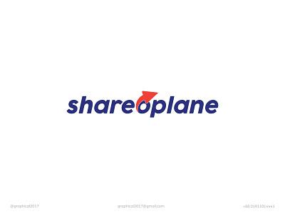 shareoplane express service delivery logo icon identity graphic design creative  design minimal logo branding