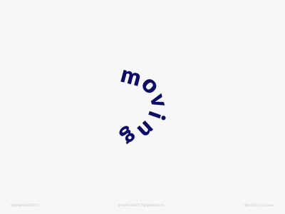 moving minimalist moving moving logo wordmark logo icon identity graphic design creative  design logo minimal branding