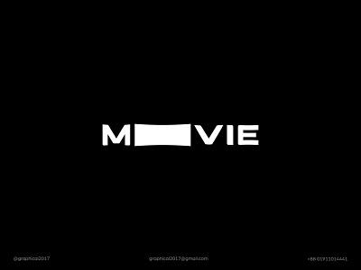 MOVIE clean logo simple logo minimal logo film.film industry movie icon identity graphic design creative  design minimal logo branding
