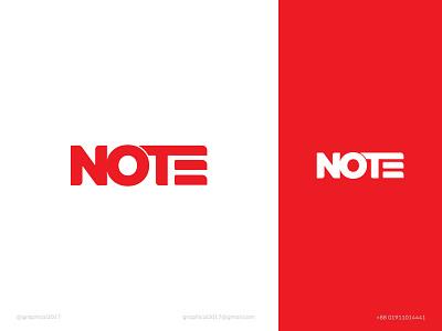 NOTE modern logo minimal logo note wordmark logo identity graphic design creative  design minimal logo branding