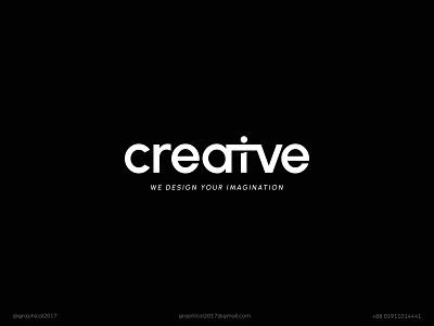 creative design agency creative wordmark logo identity graphic design creative  design minimal logo branding