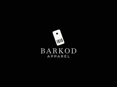 BARKOD flat minimalist fashion brand apparel logo barkod icon identity graphic design creative  design minimal logo branding