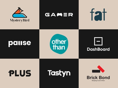 LOGOS (Vol : 05) logo volume minimalist wordmark icon identity graphic design creative  design minimal logo branding