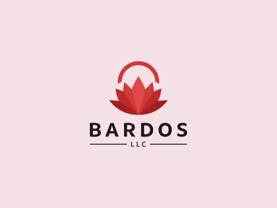 BARDOS llc llc logo lotus buddhist bardos icon identity graphic design creative  design minimal logo branding