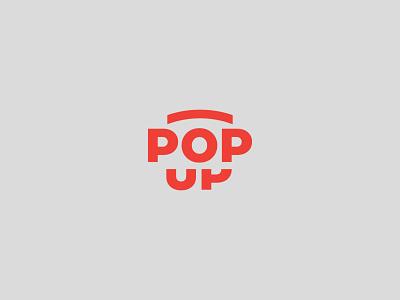 POP UP popup icon identity graphic design creative  design minimal logo branding