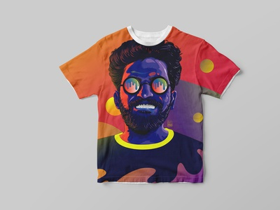T-shirt design product design tshirt design print art branding design photoshop adobe illustration