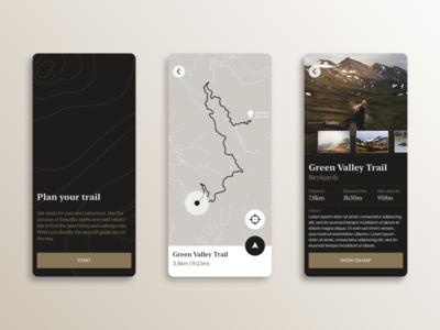 Trail — Mobile App Concept