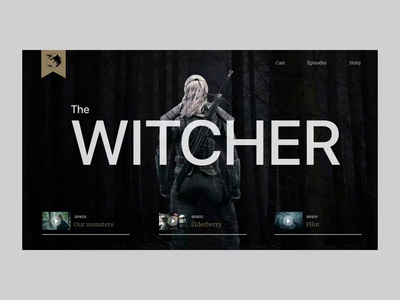 The Witcher — Web Concept series netflix website web animated animation thewitcher witcher design concept ui