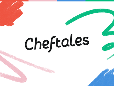 Cheftales covid19 livestream tales procreate shapes playful cook cooking platform online food chef typography logotype colorful brand logo identity branding design