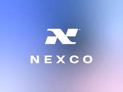 Nexco minimal flat iconmark company next letter n logo letter logo wordmark letter n brand identity branding identity branding logotype identity design logodesign logo gradient logo gradient identity