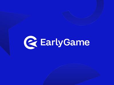 EarlyGame shapes blue responsive community game mouse e-sports e-sport esports esport gaming wordmark typography logomark icon brand logo identity branding design