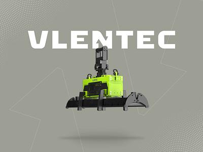 Vlentec engineering industrial machinery machine halftone vibrant loop animation 3d animation 3d modeling render 3d lifting vacuum vector colorful brand identity branding design