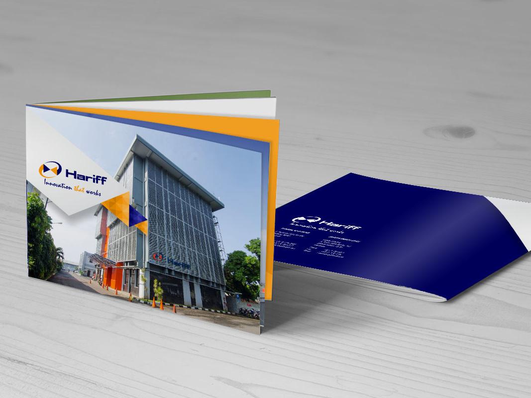 Company Profile PT Hariff company profile company brochure graphic  design branding design