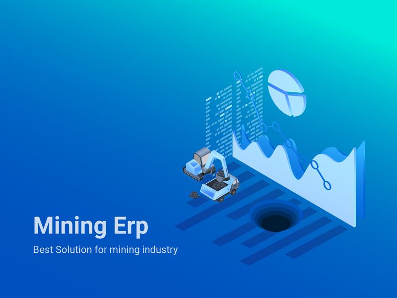 Mining Erp Art vector illustration
