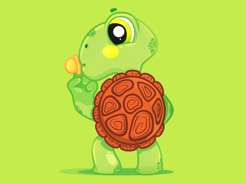 Turtle character design toy baby green design art vectorart turtle