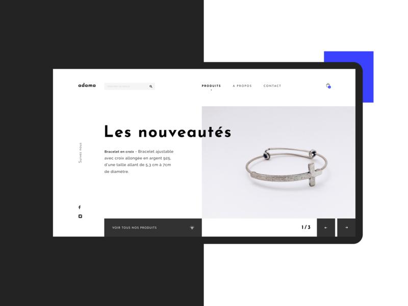 A D A M A | Online sales platform design ux ui web