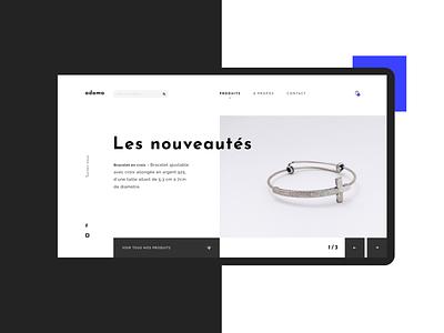 A D A M A   Online sales platform design ux ui web