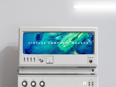 M O C K U P   Vintage computer