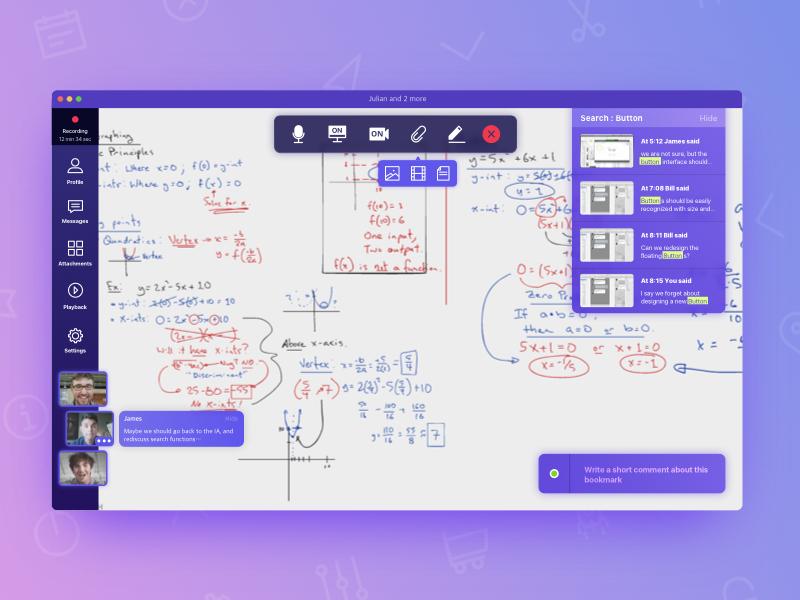 Conference application sketch ui