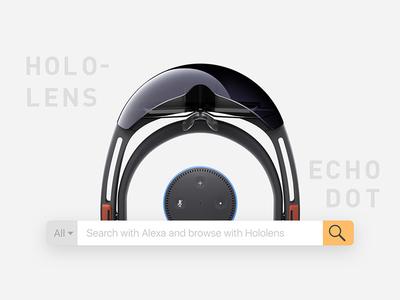 Hololens + Echo Dot