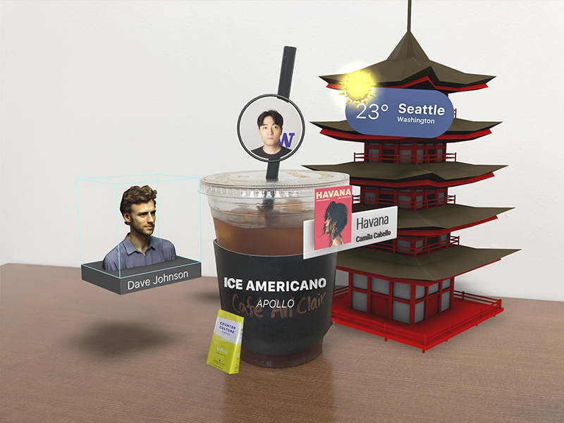 AR Coffee c4d 3d ui ar augmented reality