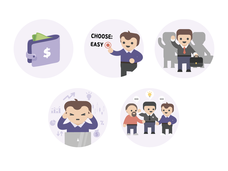 Crypto illustrations/icons Part 1 2d coin vector branding ui design payments finance cryptocurrency wallet product design icons hero crypto character design bars illustration