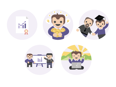 Crypto illustrations/icons Part 2 wallet vector ui product design payments illustration icons hero finance design cryptocurrency crypto coin character design branding bars 2d