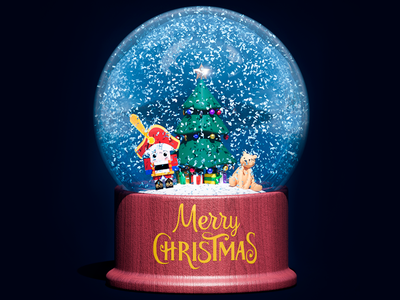 Snow Globe #1 3d modeling 3d art holidays gamedev snow flake low poly christmas snow globe design 3d blender behance illustration