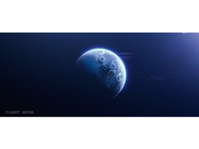 Planet Aruba animation blender after effects vfx artist vfx short film space travel space planet
