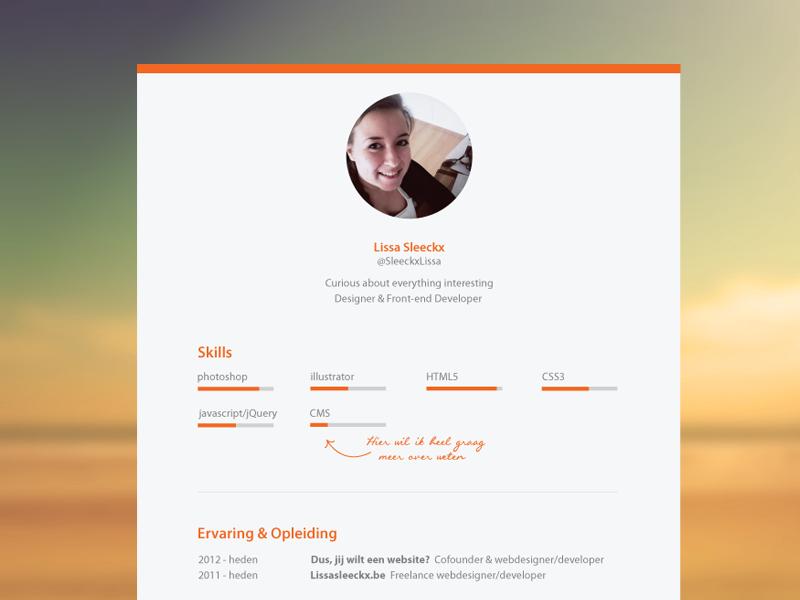 Personal Print Resume resume print graph cv curriculum vitae