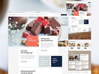 Platform for allergen-free food concept design web ui platform food