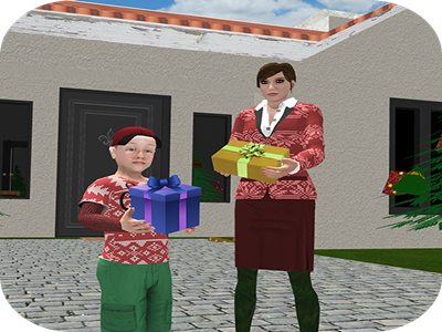 Christmas to New Year Winter Vacations game android cafeteria drive sisters brother beach mountains family virtual party snow vacations winter santa newyearnight christmas