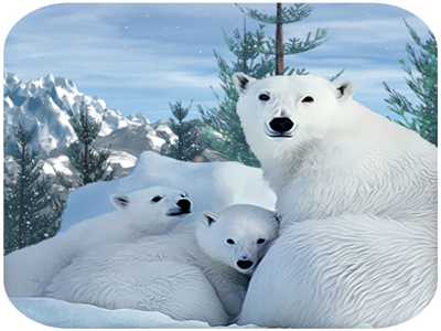 Polar Bear Family Survival game android hunt fishes quest jungle breed freezing animals dangerous wild mountains forest arctic survival family bear polar