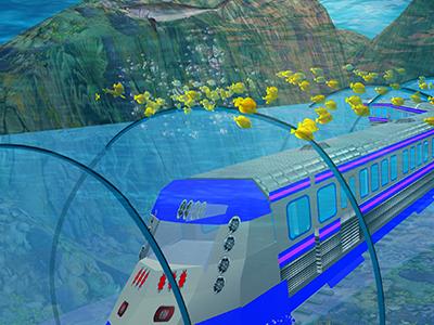 Pro Train Underwater Adventure game android tunnels ocean tourists checkpoints marine jeep truck drive transport passengers animals speed adventure underwater train