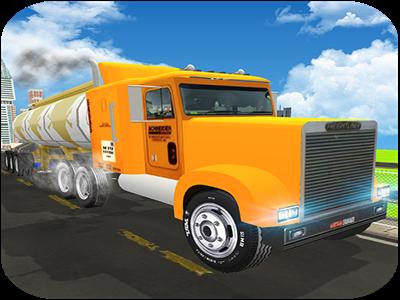 Fuel Transport Oil Tanker: City Cargo Truck Driver