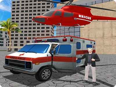 City Ambulance: Coast Guard Rescue Rush game android uphill swimmer adrenaline lifesaver pilot helicopter emergency accident rush rescue guard coast ambulance city