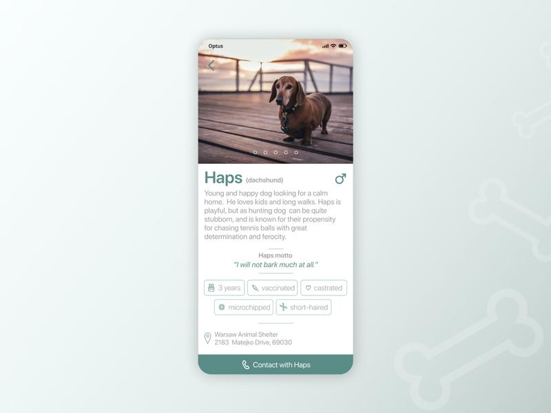 Animal Shelter App animals uidesign mobile ui mobile app design mobile app uiux ui mobile