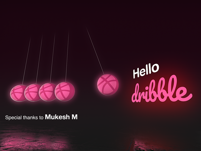 Hello Dribbble animation visual effects after effects design welcome welcome shot