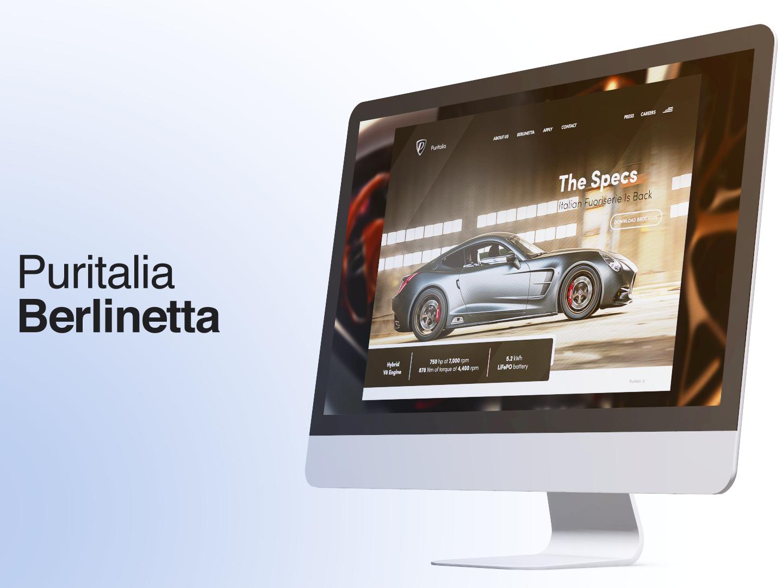 Puritalia Berlinetta - Concept Mock-Up mock up mock-up mockups mockup web app icon illustration branding design branding ui apple visual effects ui  ux uiux after effects uidesign ui design animation design