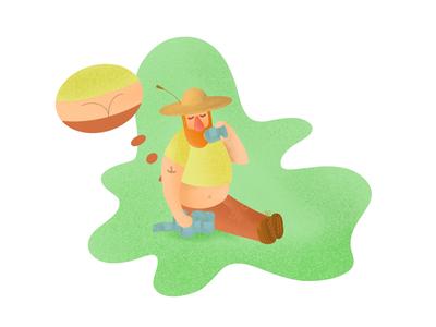 The weekend guy 😅 saturday weekend beer character illustration